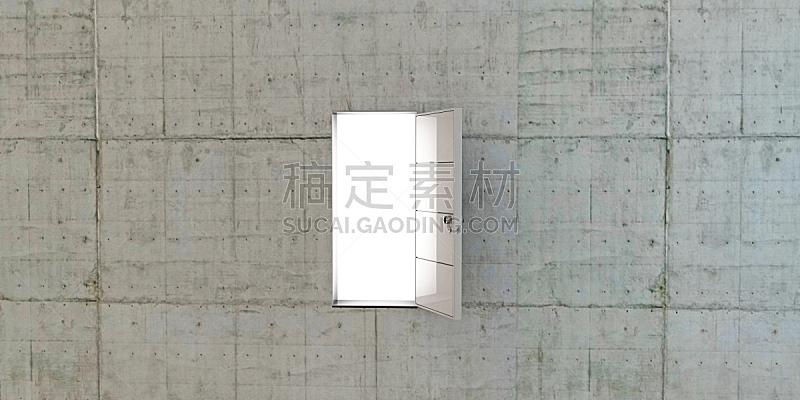 易接近性,门,白色,混泥土块,正门,概念和主题,门口,水平画幅,无人,全景