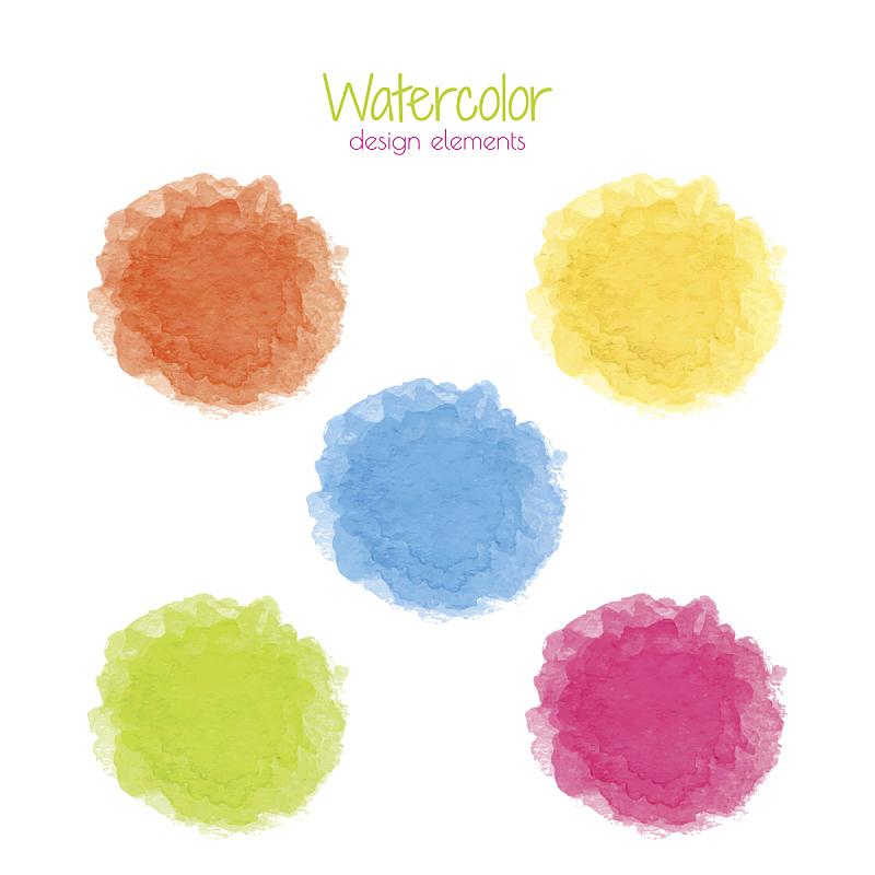 彩虹,斑点,水彩画,水彩画颜料,背景分离,边框,品红色,玷污的,涂料,光谱色