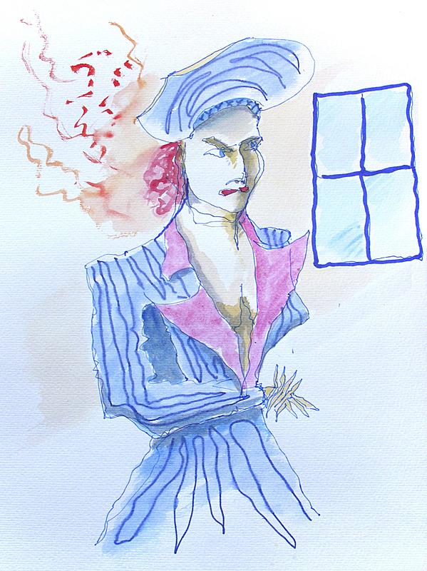 氦,住房,脐钉,紧迫,垂直画幅,艺术模特,穿衣服,绘画插图,腿,名声