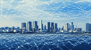 现代,抽象,城市,物联网,计算机网络,传感器,智能电网,智慧城市,沟通