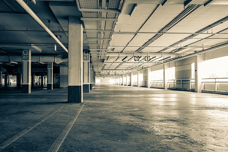 无人,室内,工业建筑,地下的,住宅房间,仓库,水平画幅,建筑,陆用车,交通