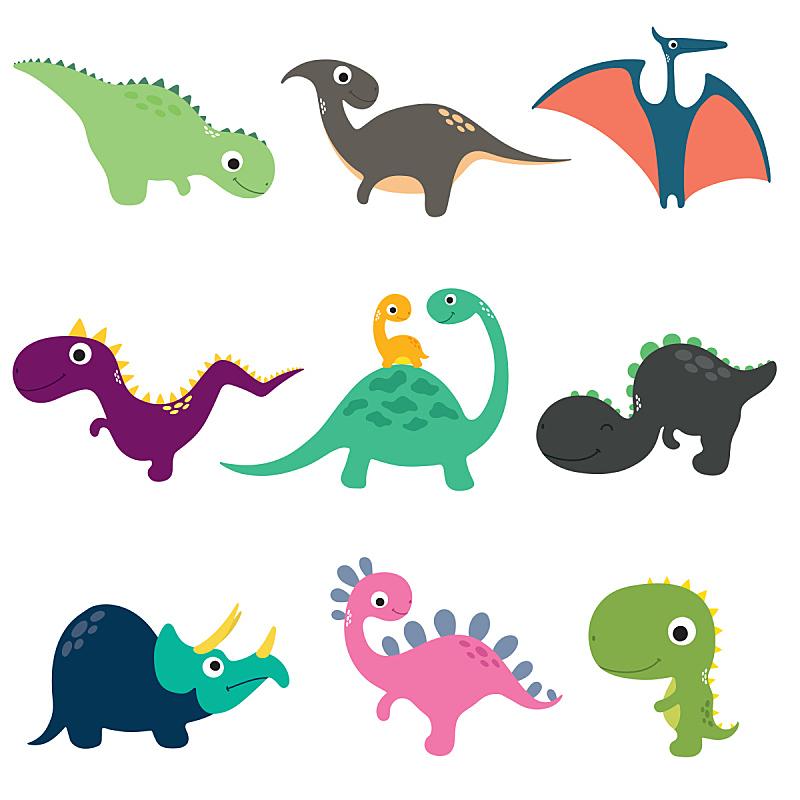 绘画插图,幽默,恐龙,矢量,卡通,可爱的,自然,黄色,幻想,图像