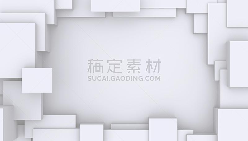 白色,抽象,背景,几何学,立方体形状,几何形状,未来,艺术,水平画幅,纹理效果