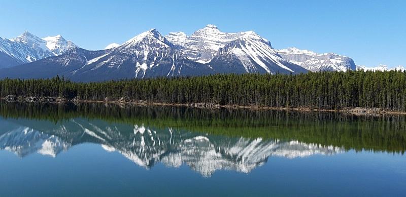 赫伯特湖,户外,自然美,自然,图像,全景,水平画幅,无人,加拿大,阿尔伯塔省