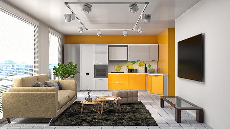 沙发,室内,三维图形,绘画插图,住宅房间,褐色,水平画幅,墙,无人,装饰物