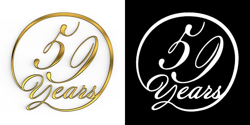 黄金,数字,数字50,数字9,周年纪念,请柬,事件,现代,数字59,德国语言