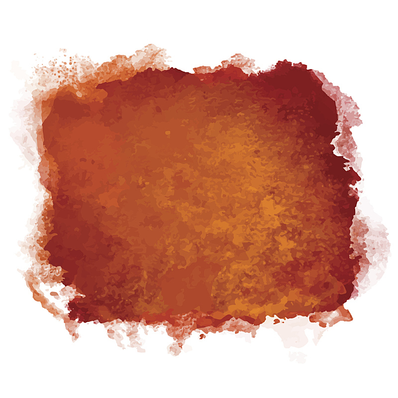 玷污的,涂料,咖啡,正方形,彩色图片,水彩画,分离着色,水彩画颜料,几何形状,一个物体