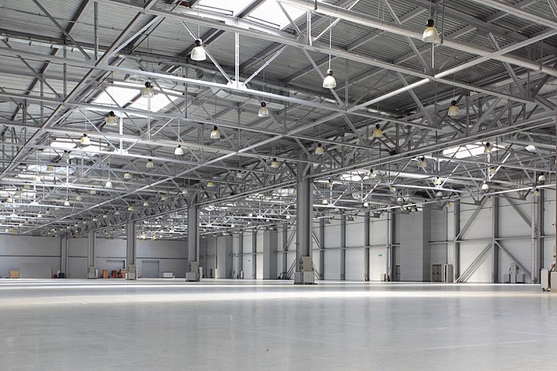 仓库,空的,明亮,商务,飞机库,水平画幅,建筑,配送中心,无人,蓝色