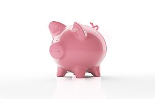 小猪扑满,白色背景,分离着色,储蓄,水平画幅,银行,无人,符号,银行帐户,保险箱