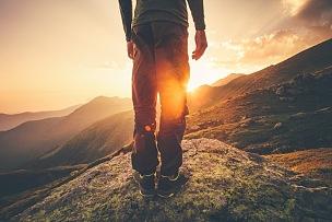 山脉,一个人,足,青年男人,探险家,土路,小路,极限运动,休闲活动,休闲追求