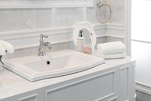 水龙头,水槽,浴室,室内,开关,不锈钢,水,新的,水平画幅,墙