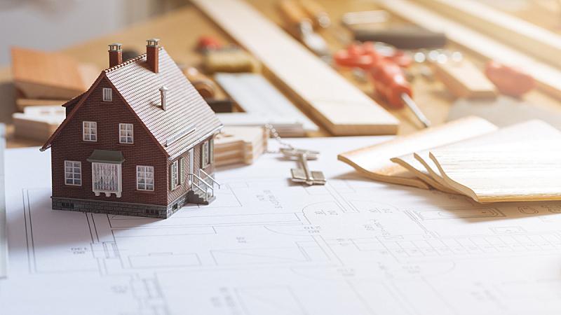 建筑业,住宅内部,画笔,文档,专业人员,设计师,木工,书桌,房地产,装饰物