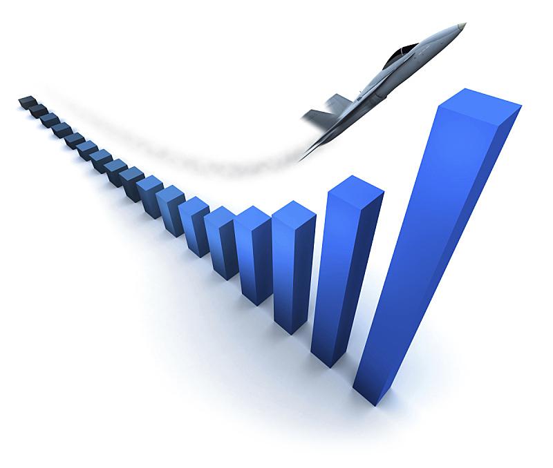 图表,概念和主题,储蓄,背景分离,飞机,金融,演说,预测,上升