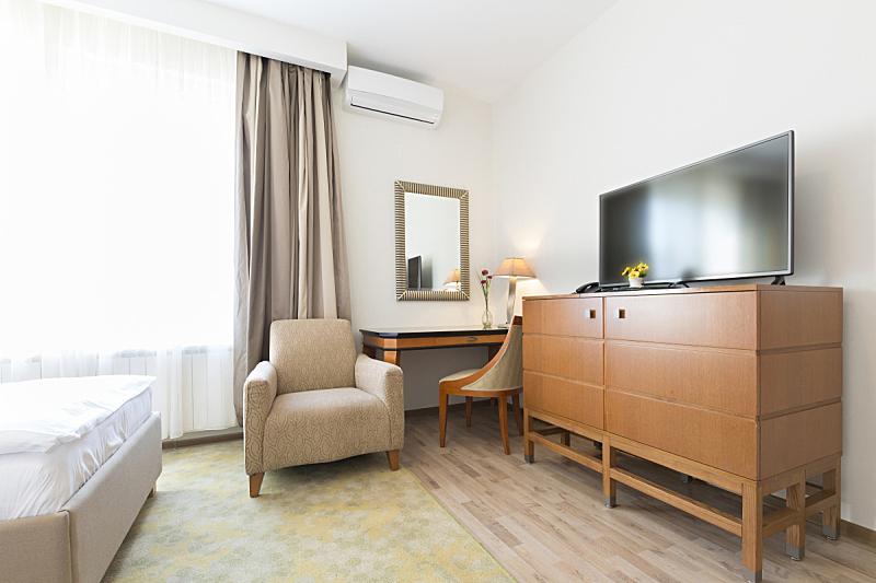 室内,宾馆客房,新的,度假胜地,水平画幅,墙,无人,床垫,家庭生活,灯