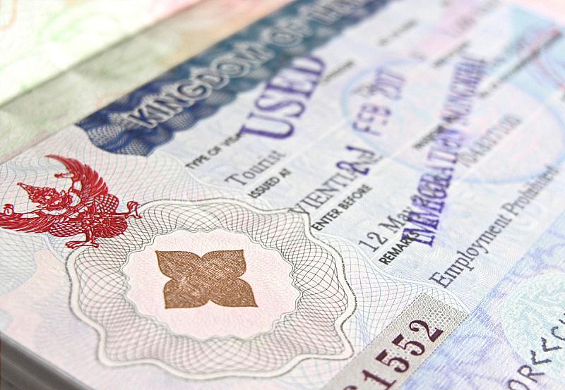 橡皮章,绿色,护照印章,水平画幅,无人,文字,特写,泰国,前景聚焦,影棚拍摄