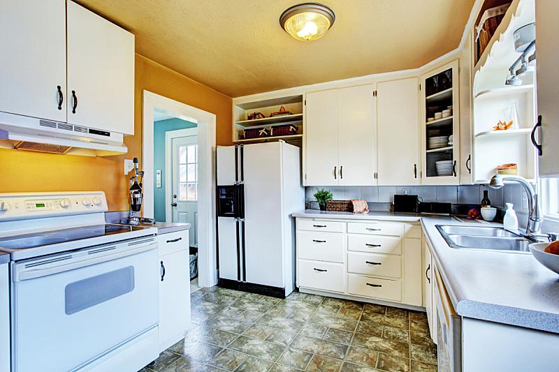 漆布,室内,厨房,墙,白色,亚麻油毡版画,住宅房间,水平画幅,建筑,无人