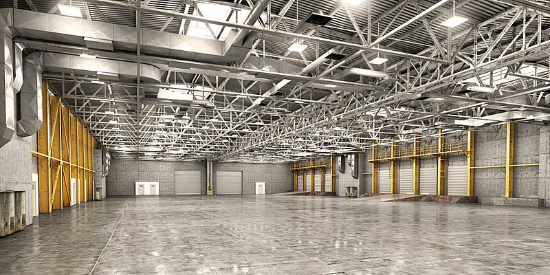 仓库,空的,新的,边框,水平画幅,器材箱,绘画插图,巨大的,工厂,商店