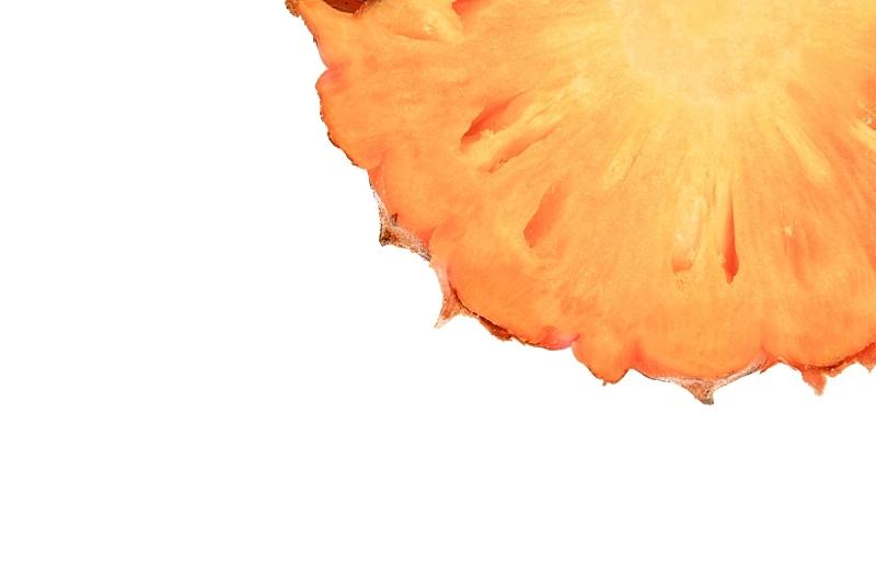 菠萝,白色背景,熟的,切片食物,水平画幅,无人,生食,维生素,果汁,夏天