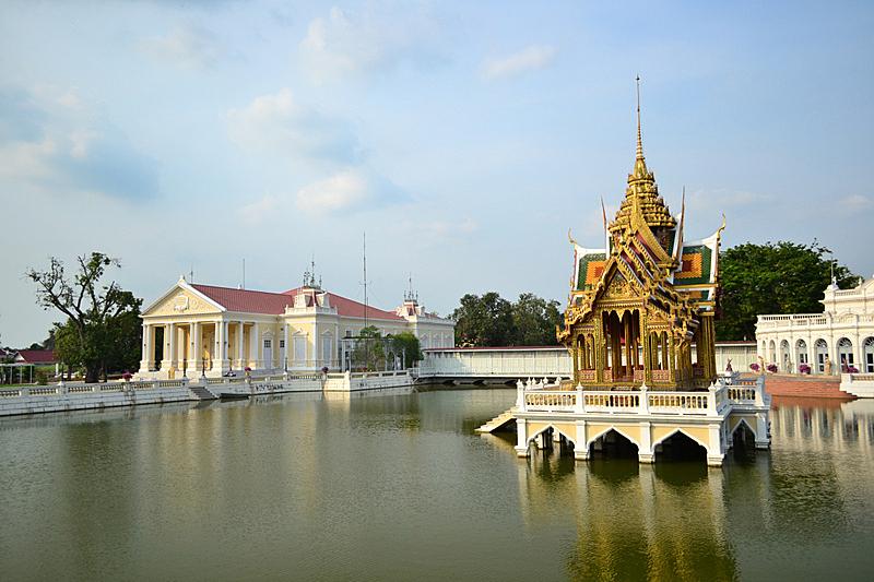 邦芭茵夏宫,水平画幅,建筑,无人,宫殿,夏天,户外,湖,泰国,居住区