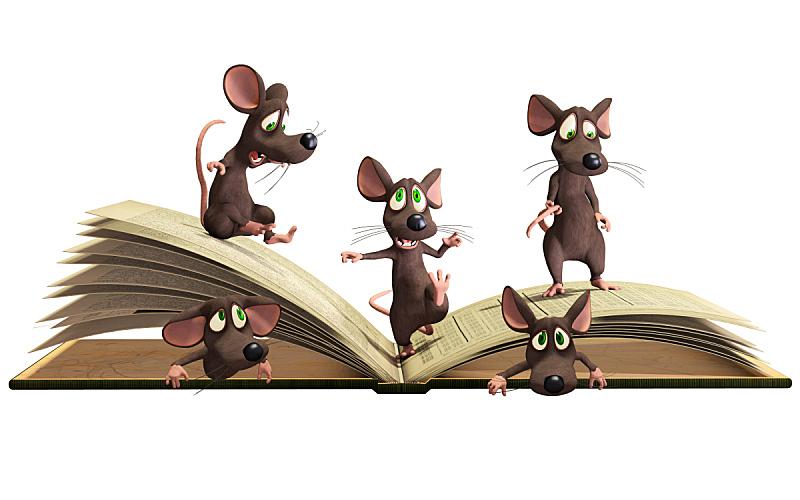 书,鼠,水平画幅,形状,智慧,绘画插图,卡通,知识,学校,白色