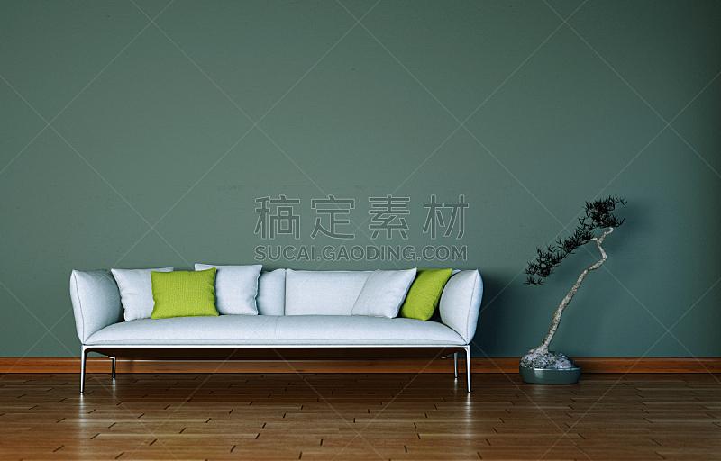 沙发,现代,室内设计师,住宅房间,明亮,茶几,华贵,砖,小毯子,装饰物