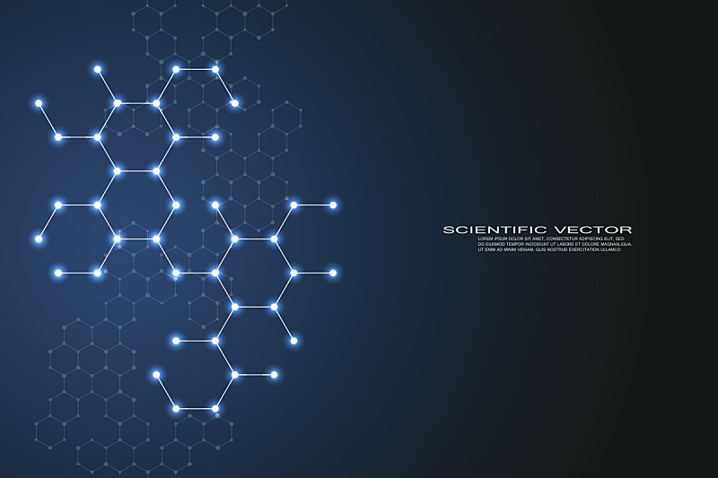 分子,六边形,神经元,分子结构,科学,脱氧核糖核酸,健康保健,绘画插图,矢量,背景