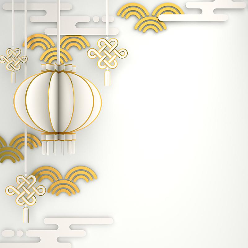 灯笼,中国,幸福,白色,春节,传统节日,背景,黄金,网站横幅,庆祝