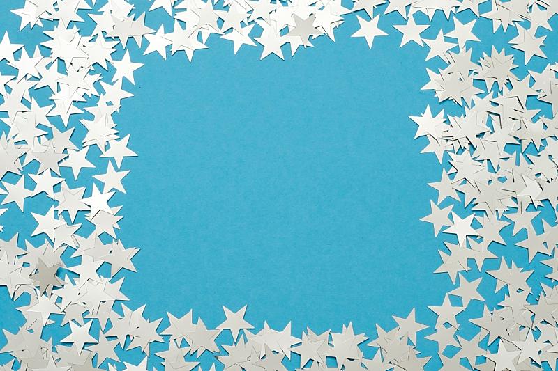 背景,星形,银色,蓝色,彩色蜡笔,边框,装饰物,节日,圆形,幸福