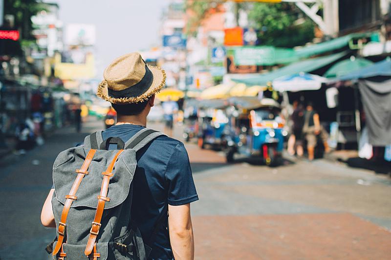 考山路,背包族,市场,青年人,户外,旅游目的地,旅途,泰国,曼谷,背包