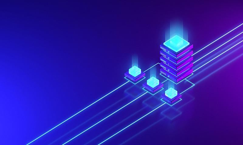网络服务器,点连成线,安全,技术,全球通讯,云计算,网络安全防护,设备用品,区块链,等角投影