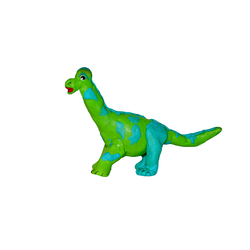 儿童游戏陶土,恐龙,雕塑,三维图形,白色背景,分离着色,粘土,已灭绝生物,亚美尼亚,小雕像