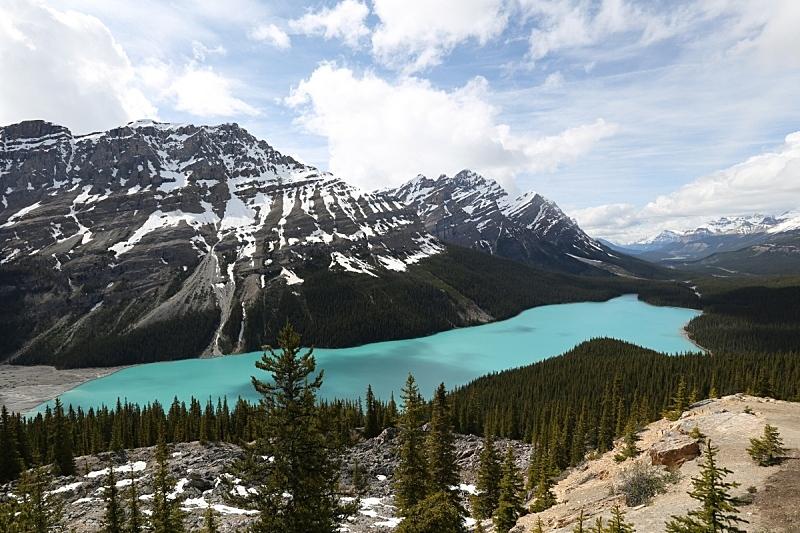 湖,自然,天空,洛矶山脉,水平画幅,阿尔伯塔省,无人,户外,加拿大,山