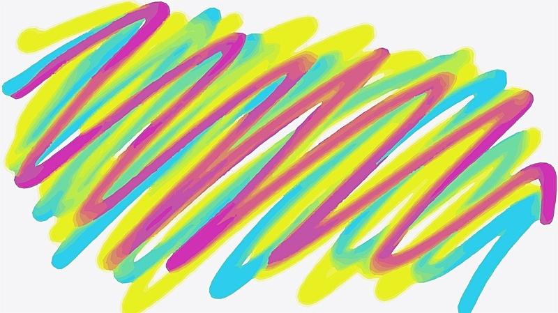 绘画插图,条纹,蓝色,黄色,粉色,美术绘画,粉色背景,灵感,艺术