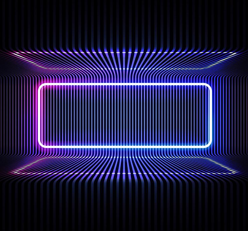 矢量,背景,霓虹灯,蓝色,线条,金属,圆形,室内地面,粉色,反射