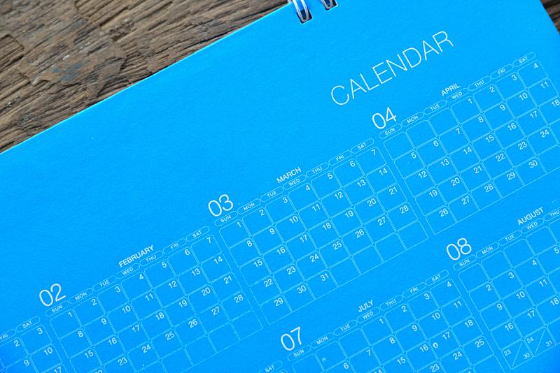 日历,书页,月,商业金融和工业,水平画幅,无人,特写,文档,白昼,星期