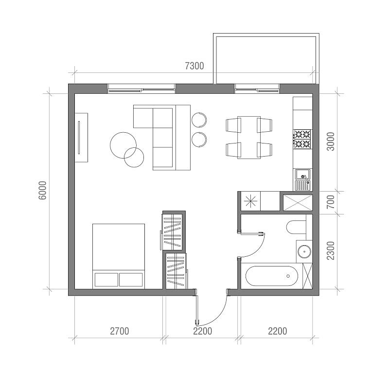 计划书,建筑,矢量,绘画插图,在上面,一室公寓,技术,地板,蓝图,椅子