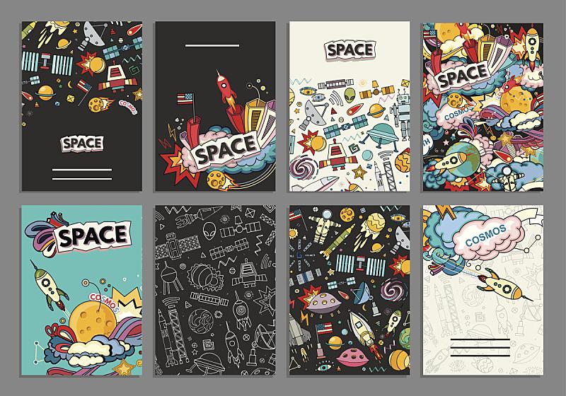 贺卡,模板,矢量,太空,彗星瀑布,卡通网络,太空头盔,空间探索,皮尔斯县,图表设计师