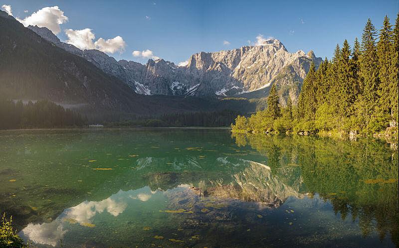 湖,山,风景,苏打,julian alps,意大利,马特洪峰,班夫,水,天空
