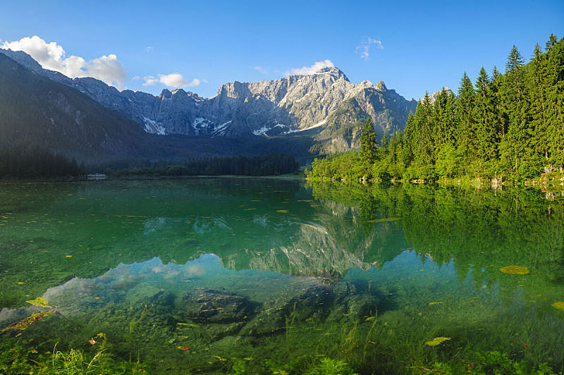 湖,山,风景,苏打,意大利,julian alps,马特洪峰,班夫,水,天空