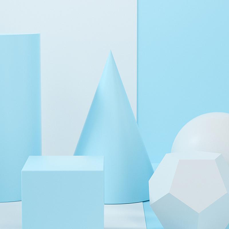 几何形状,三维图形,颁奖典礼,组物体,静物,空的,一个物体,背景分离,圆柱体,竞技场