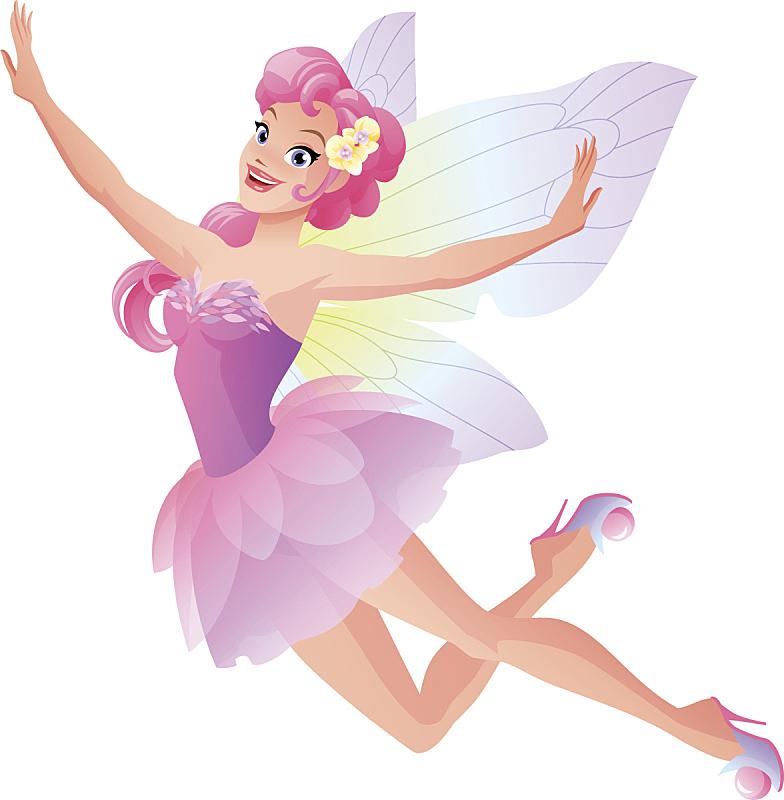 仙女服,可爱的,翅膀,连衣裙,粉色,花瓣,蝴蝶,仙女,小精灵,尤物