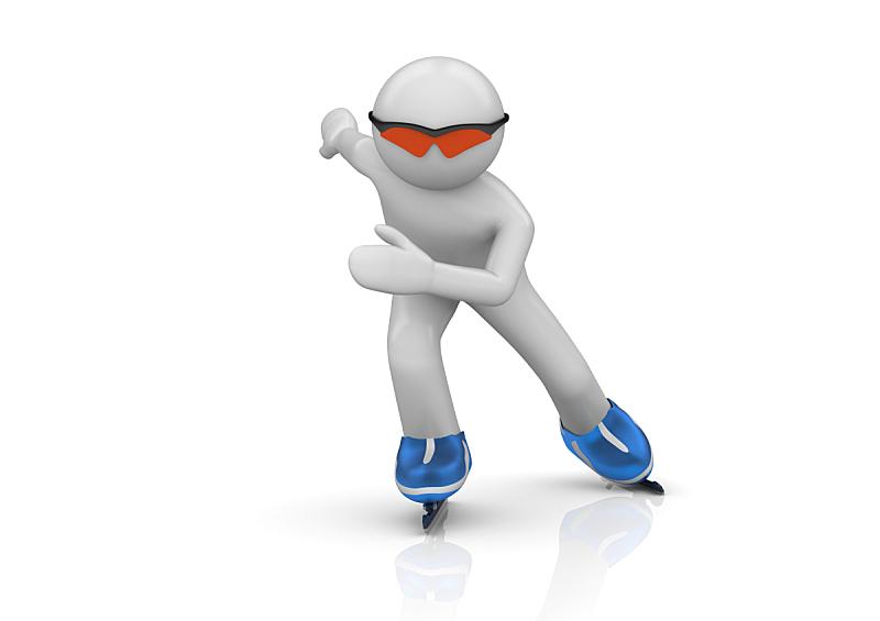 冰,水平画幅,性格,职业运动员,套装,眼镜,白色,运动,蹲