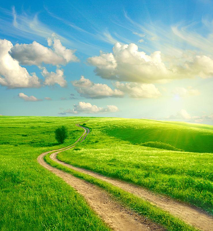 山,云,土路,草原,垂直画幅,天空,无人,夏天,户外,草