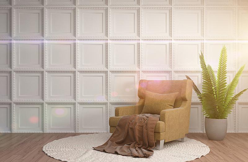 椅子,室内,三维图形,绘画插图,水平画幅,无人,装饰物,家具,舒服,公寓
