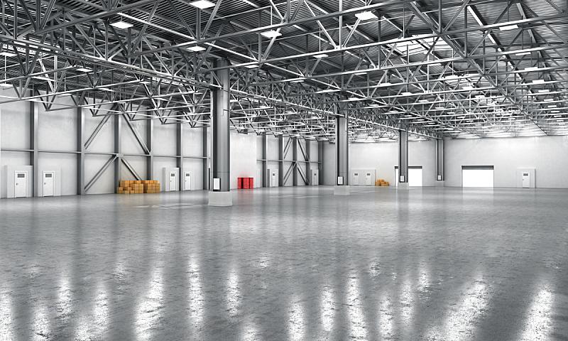 仓库,空的,新的,水平画幅,墙,器材箱,无人,绘画插图,巨大的,工厂