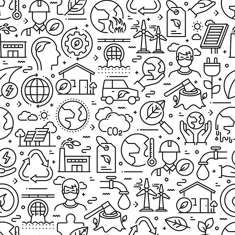 线条,四方连续纹样,背景,全球变暖,计算机图标,家庭,气候,热,有毒废物,简单