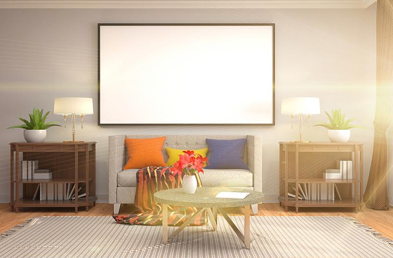 室内,轻蔑的,背景,绘画插图,三维图形,正下方视角,边框,白灰泥,褐色