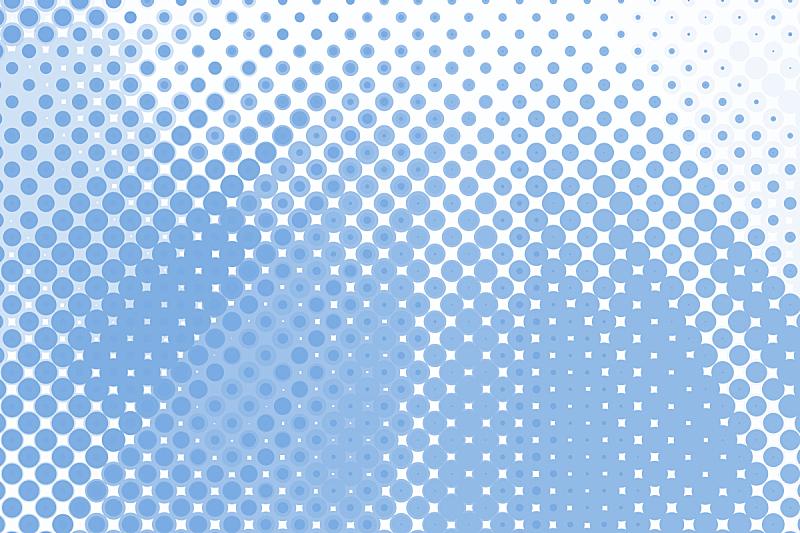 蓝色,背景,波纹,圆点,波普风,斑点,印刷机,满画幅,色彩渐变,留白