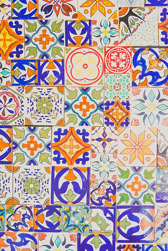瓦,摩洛哥,纹理,灯光技术,背景聚焦,垂直画幅,式样,建筑,无人,瓷砖