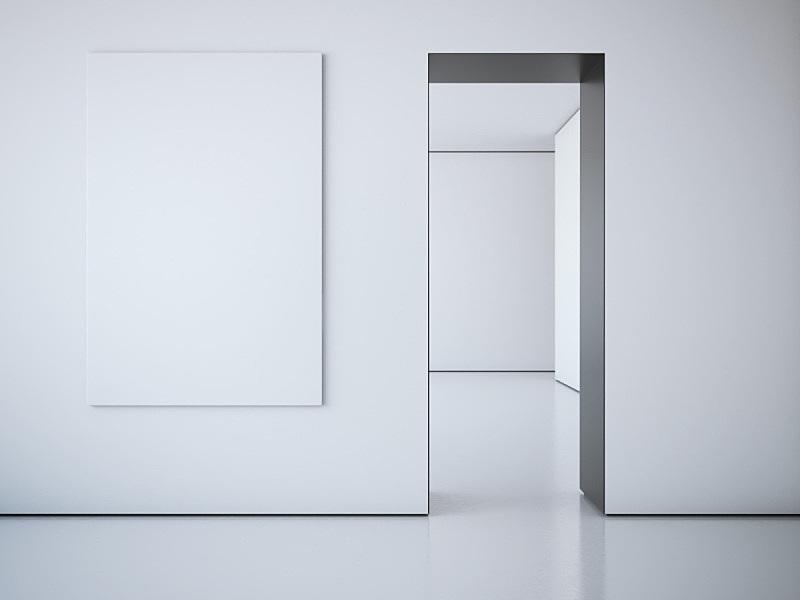 极简构图,白色,画布,水平画幅,木制,抽象,文件夹,标签,品牌标记,计算机制图